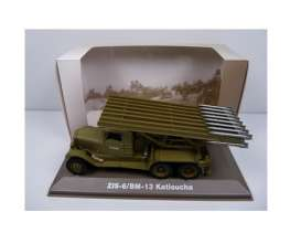 Military Vehicles  - ZIS-6/BM-13 1940 green/sand - 1:43 - Magazine Models - MILBL05 - magMILBL05 | Tom's Modelauto's