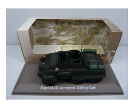 Military Vehicles  - Ford M20 1940 green/black - 1:43 - Magazine Models - MILBL06 - magMILBL06 | Tom's Modelauto's