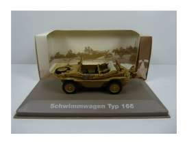 Military Vehicles  - Schwimmwagen Type 166 1940 green/sand - 1:43 - Magazine Models - MILBL21 - magMILBL21 | Tom's Modelauto's