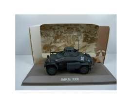 Military Vehicles  - SDKFZ 222 1940 green/black - 1:43 - Magazine Models - MILBL26 - magMILBL26 | Tom's Modelauto's