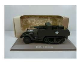 Military Vehicles  - US M3 75 MM Gun 1940 green - 1:43 - Magazine Models - MILBL33 - magMILBL33 | Tom's Modelauto's