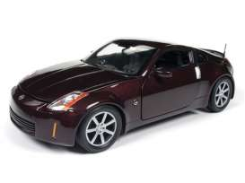 Nissan  - 350Z coupe 2003 wine red metallic - 1:18 - Auto World - aw240 - AW240 | Toms Modelautos