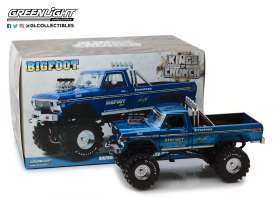 Ford  - F-250 Monster Truck 1974 blue - 1:18 - GreenLight - 13537 - gl13537 | Tom's Modelauto's