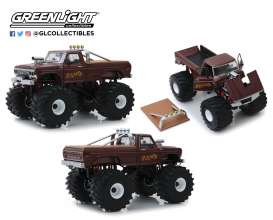 Ford  - F-250 Monster Truck 1979 brown - 1:18 - GreenLight - 13540 - gl13540 | Toms Modelautos
