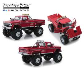 Ford  - F-250 Monster Truck 1979 red - 1:18 - GreenLight - 13542 - gl13542 | Toms Modelautos