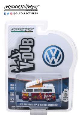 Volkswagen  - Type 2 1973  - 1:64 - GreenLight - 29940C - gl29940C | Tom's Modelauto's