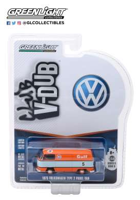 Volkswagen  - Type 2 1975 orange/blue - 1:64 - GreenLight - 29940E - gl29940E | Tom's Modelauto's