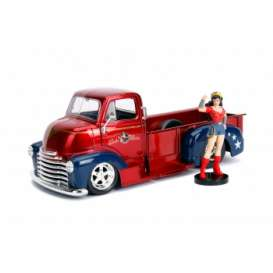 Chevrolet  - COE Pickup *Wonder Woman*  1952 red/blue - 1:24 - Jada Toys - 30453 - jada30453 | Tom's Modelauto's