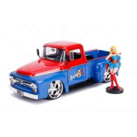 Ford  - F-100 *Supergirl* 1952 red/blue - 1:24 - Jada Toys - 30454 - jada30454 | Tom's Modelauto's