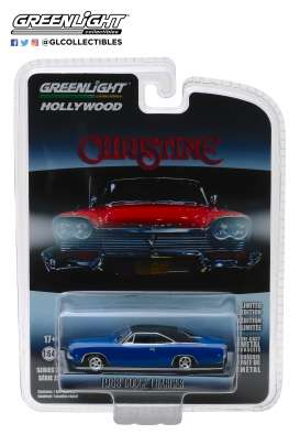 Dodge  - Charger *Christine* 1968 blue/black - 1:64 - GreenLight - 44820E - gl44820E | Tom's Modelauto's