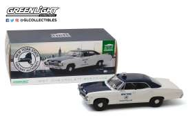 Chevrolet  - Biscayne 1967 white/blue - 1:18 - GreenLight - 19054 - gl19054 | Tom's Modelauto's