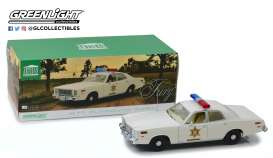 Plymouth  - Fury 1977 white - 1:18 - GreenLight - 19055 - gl19055 | Tom's Modelauto's