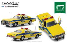 Plymouth  - Fury 1977 yellow/blue - 1:18 - GreenLight - 19056 - gl19056 | Tom's Modelauto's