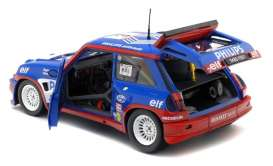Renault  - 5  Maxi Turbo 1985 blue/red - 1:18 - Solido - 1850027 - soli1850027 | Tom's Modelauto's