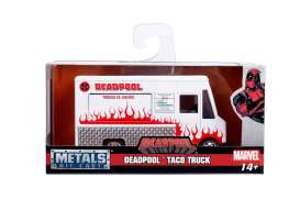 Deadpool  - Taco Food Truck 2017 white/red - 1:32 - Jada Toys - 99800 - jada99800 | Tom's Modelauto's