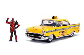 Deadpool  - Taxi 2016 yellow - 1:24 - Jada Toys - 30290 - jada30290 | Tom's Modelauto's