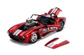 Shelby  - Cobra 427 S/C 1965 candy red - 1:24 - Jada Toys - 30705 - jada30705 | Tom's Modelauto's