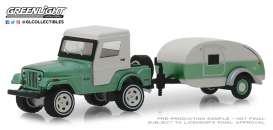 Jeep  - CJ-5 1972 green - 1:64 - GreenLight - 32160B - gl32160B | Tom's Modelauto's