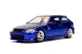 Honda  - Civic EK Type R 1997 candy blue - 1:24 - Jada Toys - 30929 - jada30929b | Tom's Modelauto's