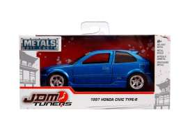 Honda  - Civic EK Type R 1997 metallic blue - 1:32 - Jada Toys - 30487 - jada30487b | Tom's Modelauto's