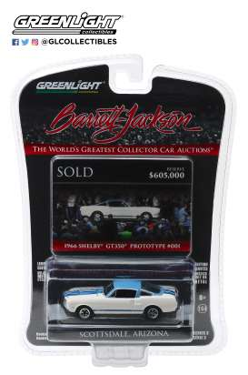 Shelby  - GT350 1966 white/blue - 1:64 - GreenLight - 37160A - gl37160A | Tom's Modelauto's