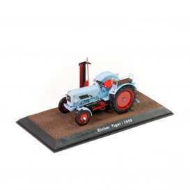 Tractor  - Eicher Tiger 1959 blue - 1:32 - Magazine Models - TR2517024 - magTR2517024 | Toms Modelautos