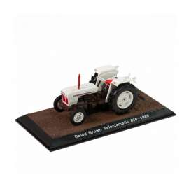 Tractor  - David Brown Selectamatic 880 1969 white/black - 1:32 - Magazine Models - TR7517029 - magTR7517029 | Tom's Modelauto's