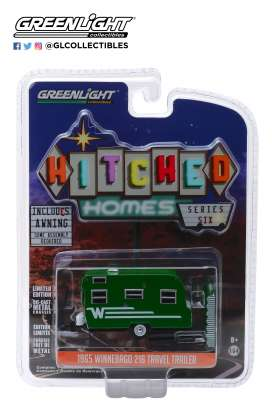 Winnebago  - 1965 green/white - 1:64 - GreenLight - 34060D - gl34060D | Tom's Modelauto's