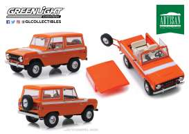 Ford  - Bronco 1977 red-orange - 1:18 - GreenLight - 19058 - gl19058 | Tom's Modelauto's