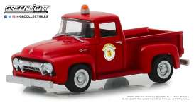 Ford  - F-100 1954 red - 1:64 - GreenLight - 30031 - gl30031 | Tom's Modelauto's