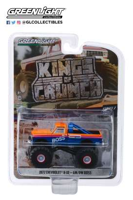 Chevrolet  - K-10 1972 blue/orange/white - 1:64 - GreenLight - 49030B - gl49030B | Tom's Modelauto's