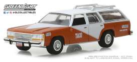 Ford  - LTD Crown Victoria 1988 white/orange - 1:64 - GreenLight - 30026 - gl30026 | Tom's Modelauto's
