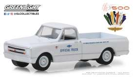 GMC  - Sierra 1967 white - 1:64 - GreenLight - 30029 - gl30029 | Tom's Modelauto's