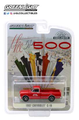 Chevrolet  - C-10 1967 red - 1:64 - GreenLight - 30030 - gl30030 | Tom's Modelauto's