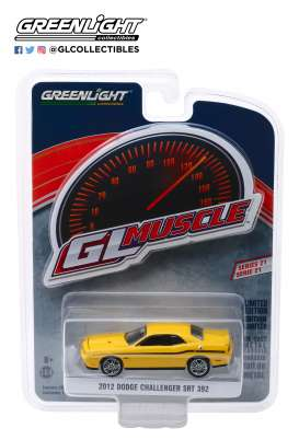 Dodge  - Challenger 2012 yellow - 1:64 - GreenLight - 13230D - gl13230D | Tom's Modelauto's