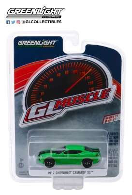 Chevrolet  - Camaro SS 2017 green/black - 1:64 - GreenLight - 13230E - gl13230E | Tom's Modelauto's