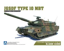 Military Vehicles  - JGSDF Type 10 MBT  - 1:72 - Aoshima - 154314 - abk154314 | Tom's Modelauto's