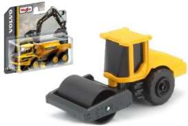Volvo  - SD160B Soil Compactor black/yellow - 1:64 - Maisto - 15394-04 - mai15394-04 | Tom's Modelauto's