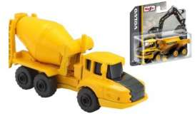 Volvo  - A25G black/yellow - 1:64 - Maisto - 15394-06 - mai15394-06 | Tom's Modelauto's