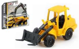 Volvo  - L250H Wheel Loader black/yellow - 1:64 - Maisto - 15394-07 - mai15394-07 | Tom's Modelauto's