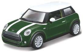 Mini Cooper - white/green - 1:43 - Maisto - 21001-16908 - mai21001-16908 | Tom's Modelauto's