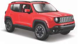 Jeep  - Renegade red - 1:24 - Maisto - 39282 - mai39282 | Tom's Modelauto's