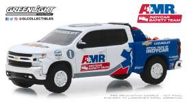Chevrolet  - Silverado 2019 white/blue - 1:64 - GreenLight - 30036 - gl30036 | Tom's Modelauto's