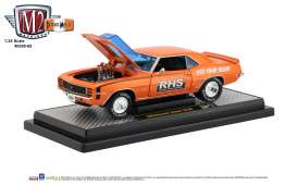 Chevrolet  - Camaro 1969 orange/black - 1:24 - M2 Machines - 40300-65A - M2-40300-65A | Tom's Modelauto's