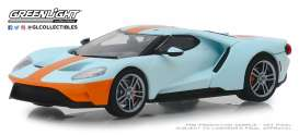 Ford  - GT 2019 orange/light blue - 1:43 - GreenLight - 86158 - gl86158 | Tom's Modelauto's