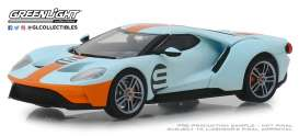 Ford  - GT 2019 orange/light blue - 1:43 - GreenLight - 86159 - gl86159 | Tom's Modelauto's