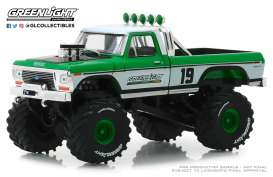 Ford  - F-250 1974 white/green - 1:43 - GreenLight - 86161 - gl86161 | Tom's Modelauto's