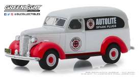 Chevrolet  - Panel Truck 1939 grey/white/red - 1:64 - GreenLight - 41080A - gl41080A | Tom's Modelauto's