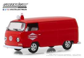 Volkswagen  - Type 2 Panel Van 1969 red - 1:64 - GreenLight - 41080D - gl41080D | Tom's Modelauto's