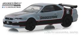 Nissan  - Skyline 2001 grey/black/red - 1:64 - GreenLight - 41080E - gl41080E | Tom's Modelauto's